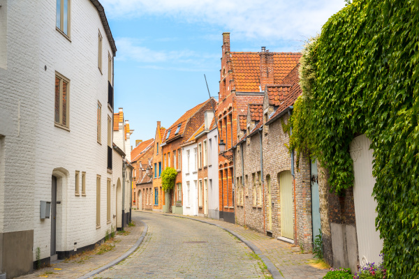 cozy street in ancient provincial european