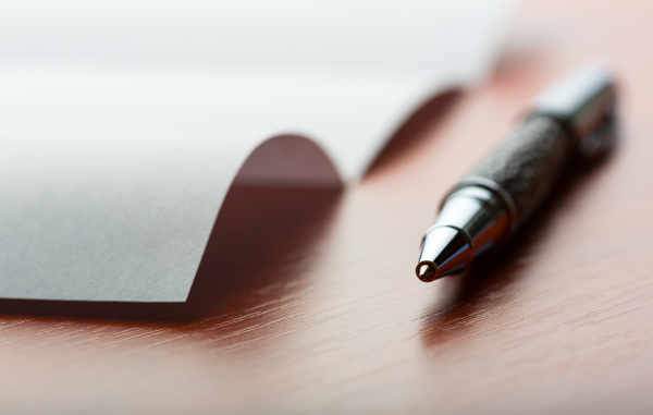 letter and pen