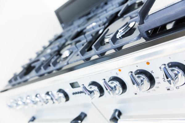 stove on the white modern kitchen