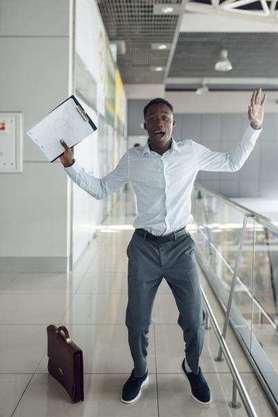 black businessman does not believe his