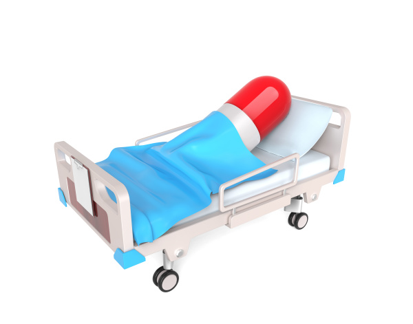 pill in medical bed