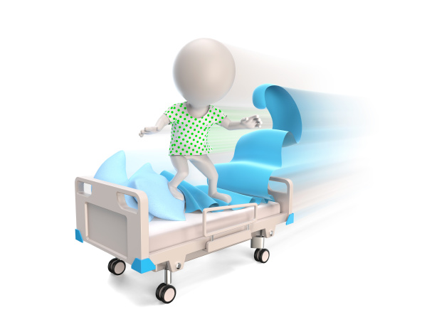 patient driving on madical bed