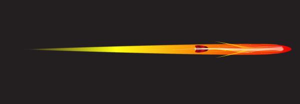 flaming arrow set over a black