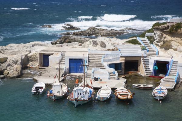 harbour mandrakia village milos island cyclades