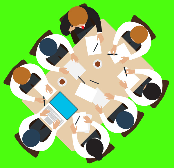 meeting strategy teamwork round table
