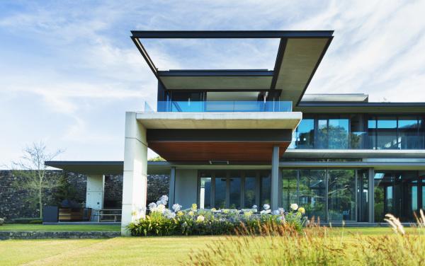 modern luxury home showcase exterior