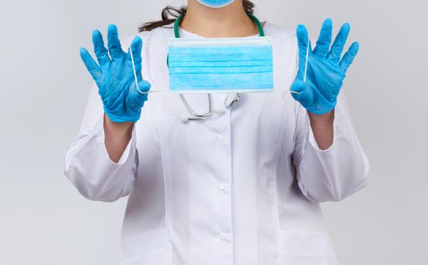 female doctor in a white coat