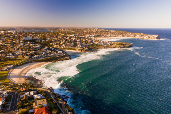 aerial view of bronte new