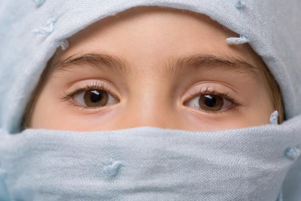 young veiled girl