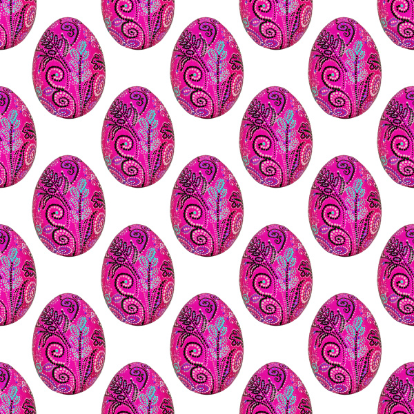 seamless texture easter eggs hand painted