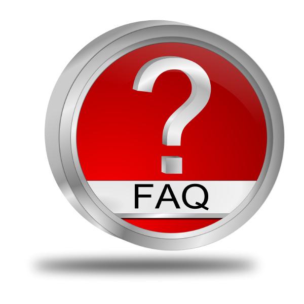 red faq button 3d illustration