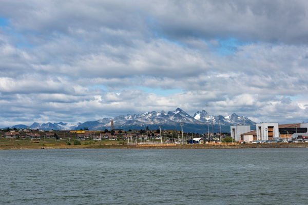 ushuaia bay and mountains tierra del