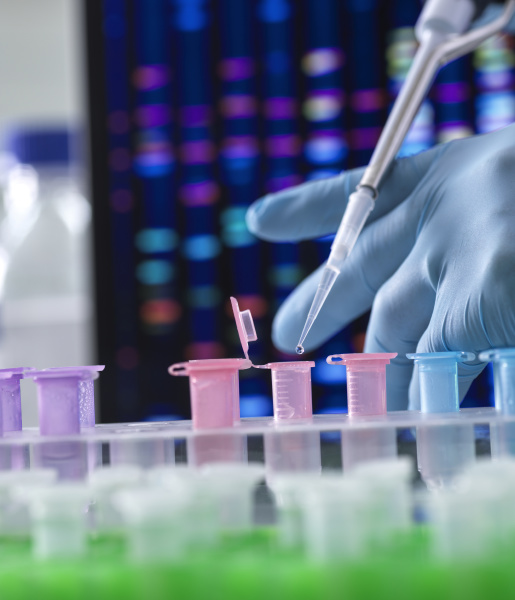 scientist pipetting dna samples into microcentrifuge