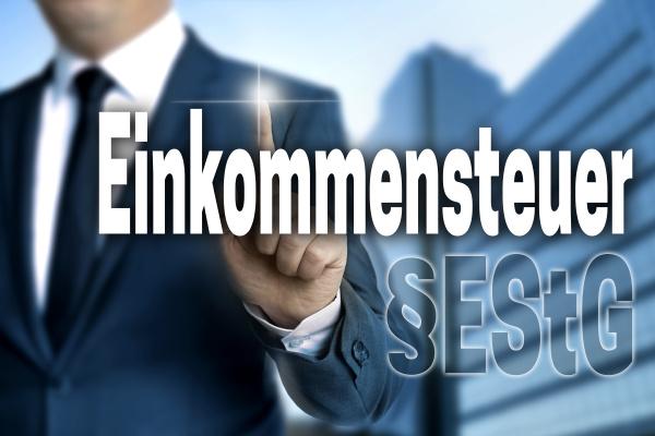 einkommensteuer in german income tax touchscreen