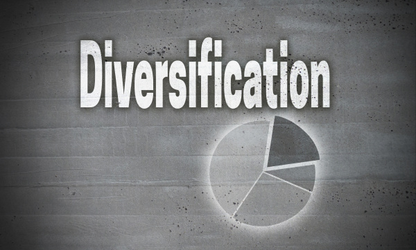 diversification on concrete wall background