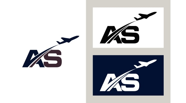 initial letter with aviation logo design