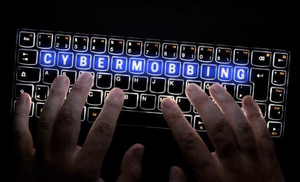 cybermobbing keyboard is operated by hacker