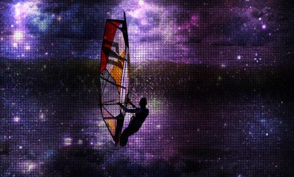 close up of a windsurfers having
