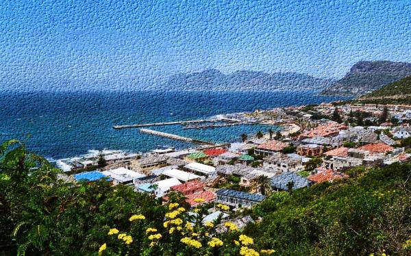 landscape with the village of kalk