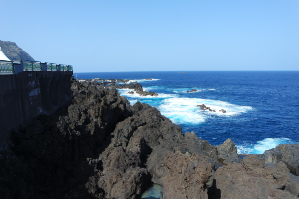 madeira lava coast in porto moniz