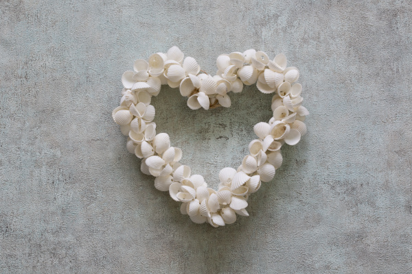 little heart made of shells
