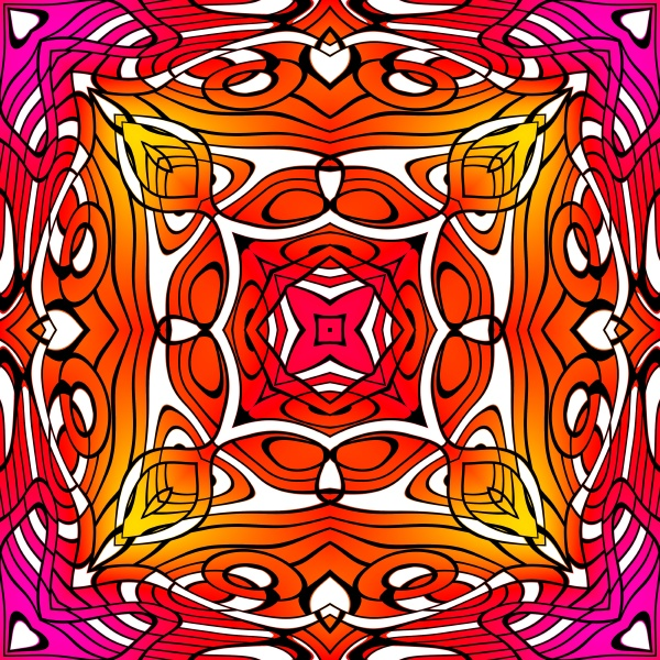 allover repeating pattern tile in bold