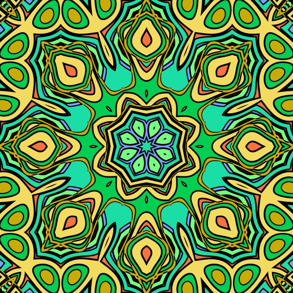 colorful allover repeating pattern tile