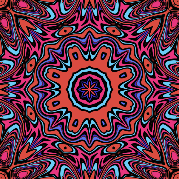 colorful symmetrical repeating pattern tile