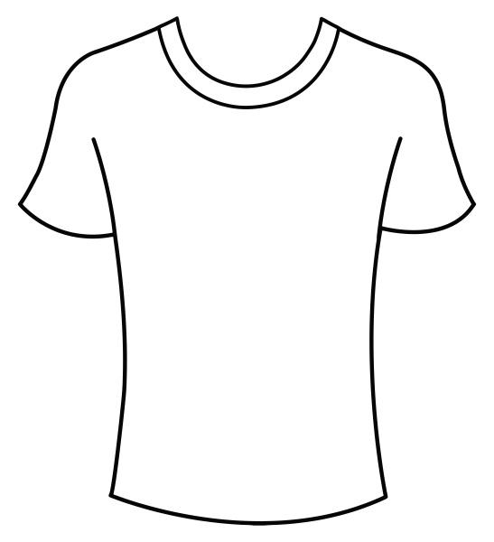 white t shirt wear front blank