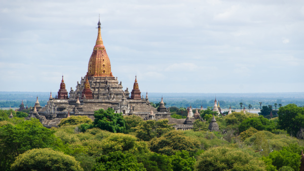 ananda temple in the bagan archaeological