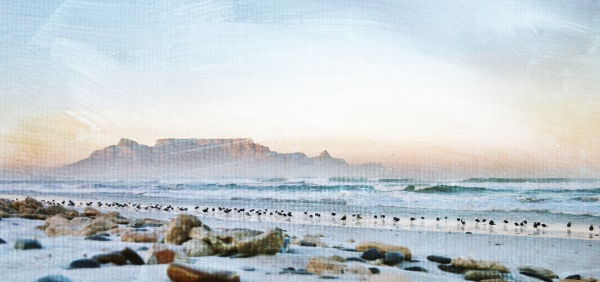 landscape with stones on the beach