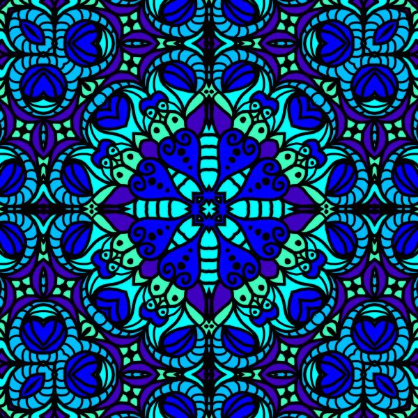 blue green allover pattern tile