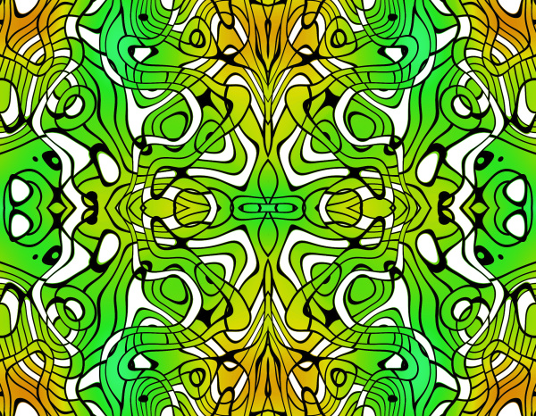 allover repeating pattern tile green yellow