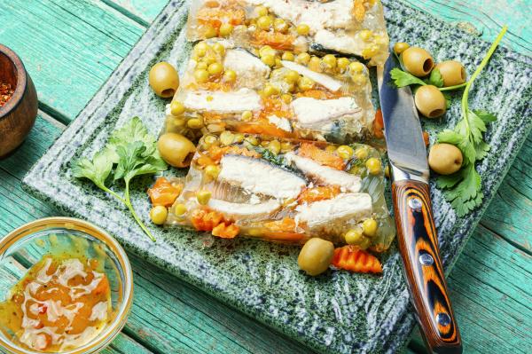 tasty aspic fish