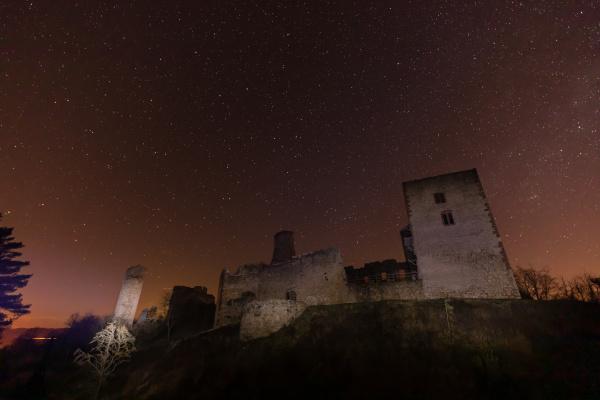 the ruine of brandenburg castle at