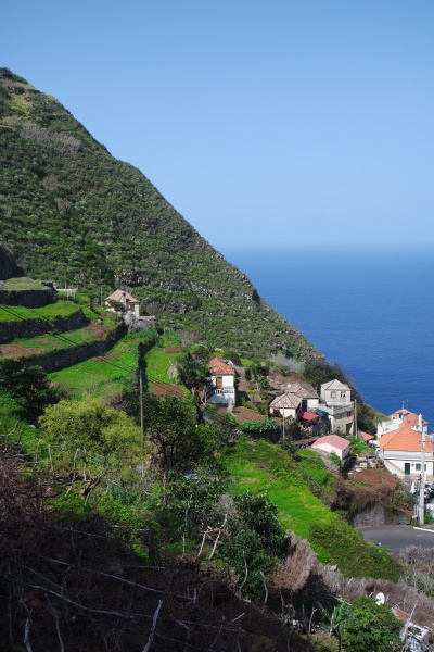 village on the mountain slope madeira