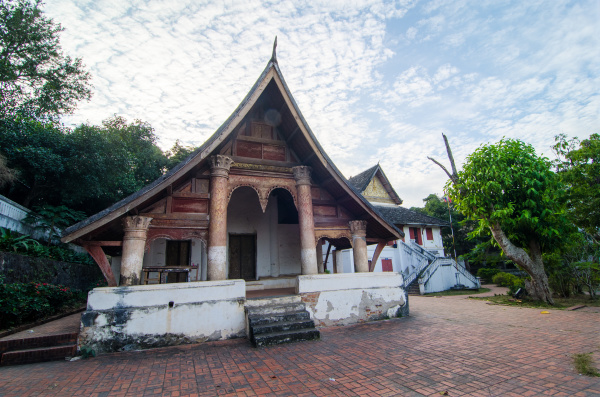 old buddhist temple building luang prabang