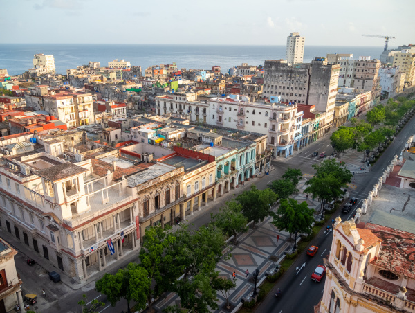 view overlooking paseo del prado and