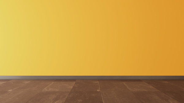 yellow, wall, and, black, stone, floor - 28216094