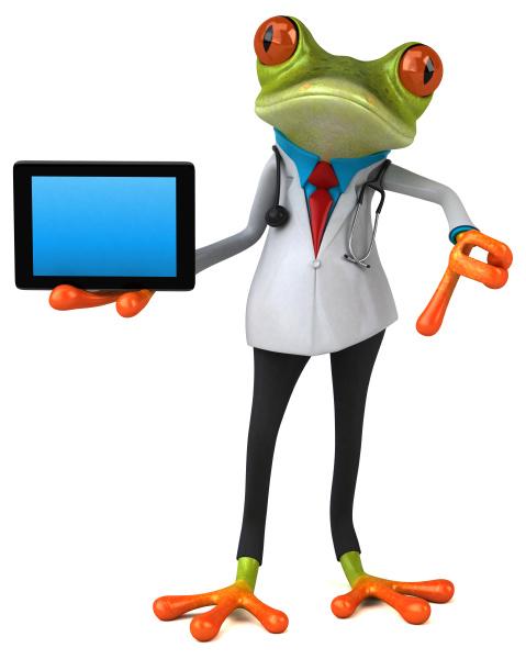 frog, doctor, -, 3d, illustration - 28217721