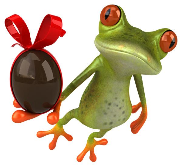 fun, frog, -, 3d, illustration - 28217536