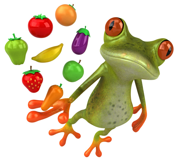 fun, frog, -, 3d, illustration - 28217661