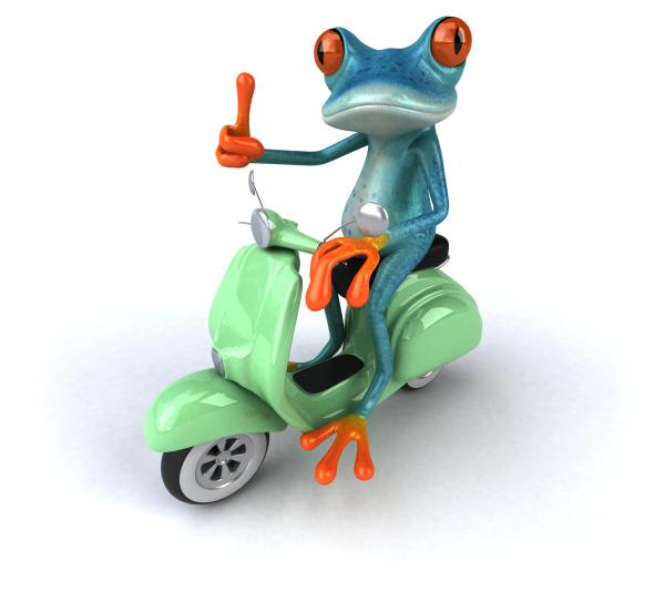 fun, frog-, 3d, illustration - 28217449