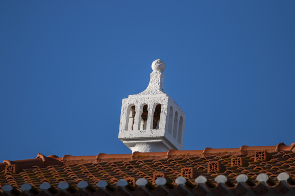 traditional and beautiful portuguese chimney