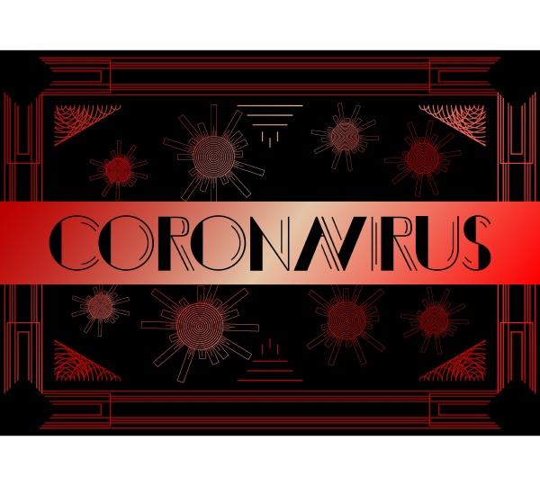 art deco coronavirus text