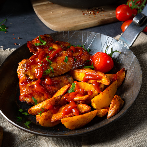 rustic chicken wings in honey with