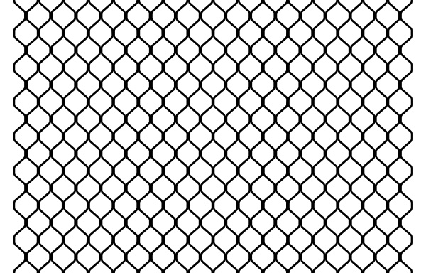 chain link fence repeating pattern