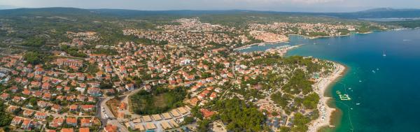 panoramic aerial view of krk