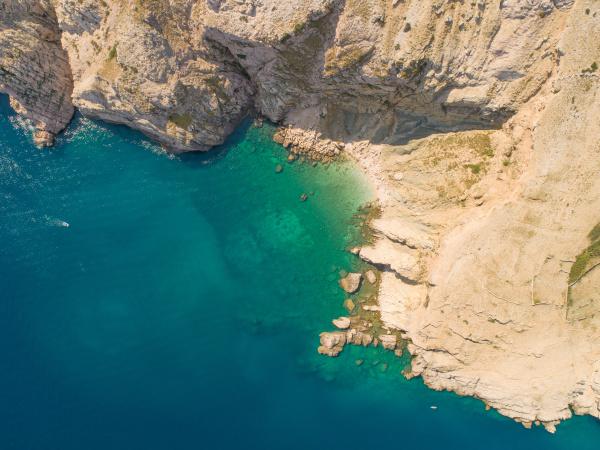aerial view of baska croatia