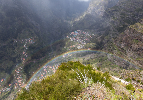 rainbow over valley of the nuns